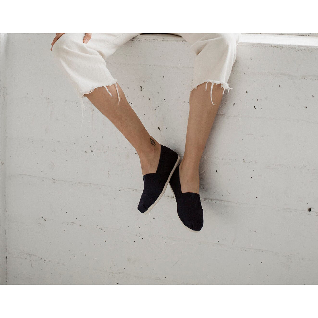 Sneakers Toms Alpargata black canvas