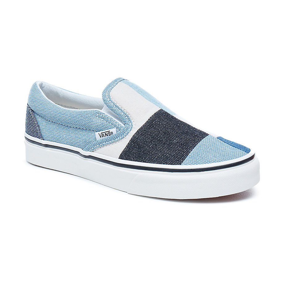 2129cd83ea Sneakers Vans Classic Slip-On patchwork denim