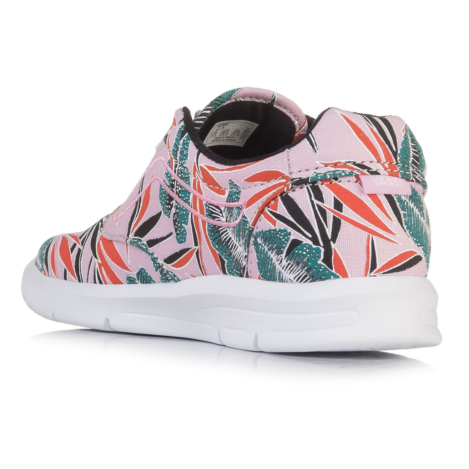 e34937a81d Sneakers Vans Iso 1.5 Kids tropical leaves pink