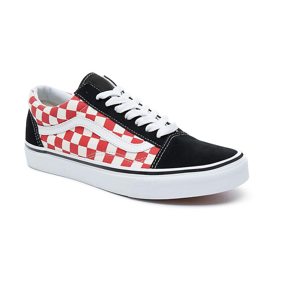Vans Old Skool checkerboard black/red