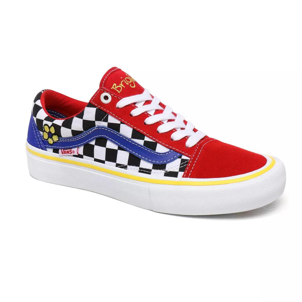 Sada falda compromiso  Skate shoes Vans Old Skool Pro brighton zeuner red/checker/blue ...