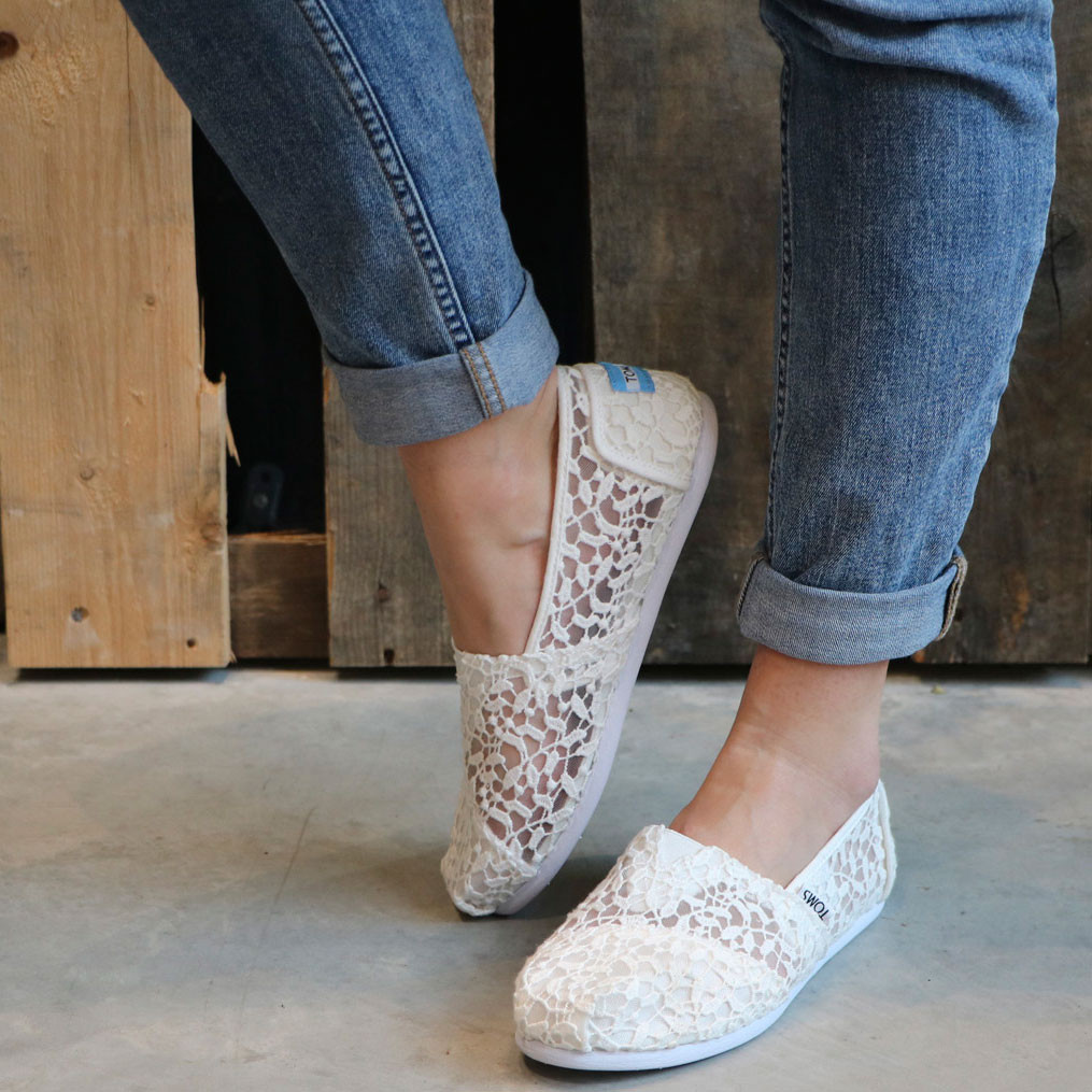 Sneakers Toms Alpargata white lace
