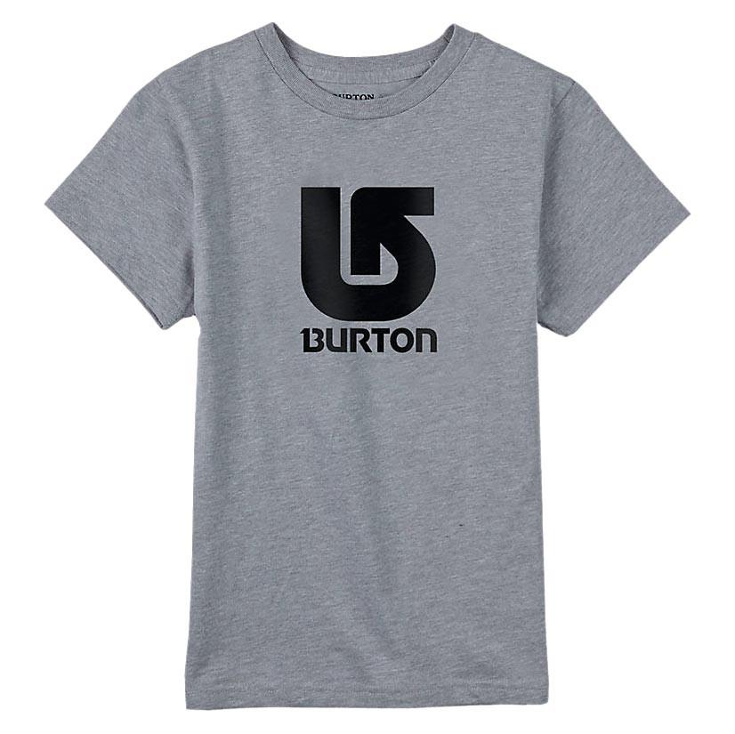 Tričko Burton Boys Logo Vertical Ss grey heather vel.JR M 16/17 + doručení do 24 hodin