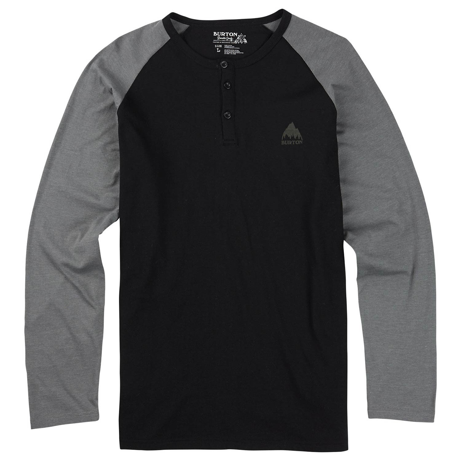 Tričko Burton Lifty Henley true black