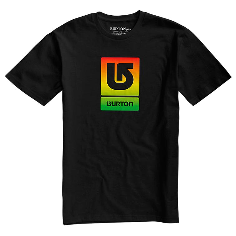Tričko Burton Logo Vertical Fill Ss true black