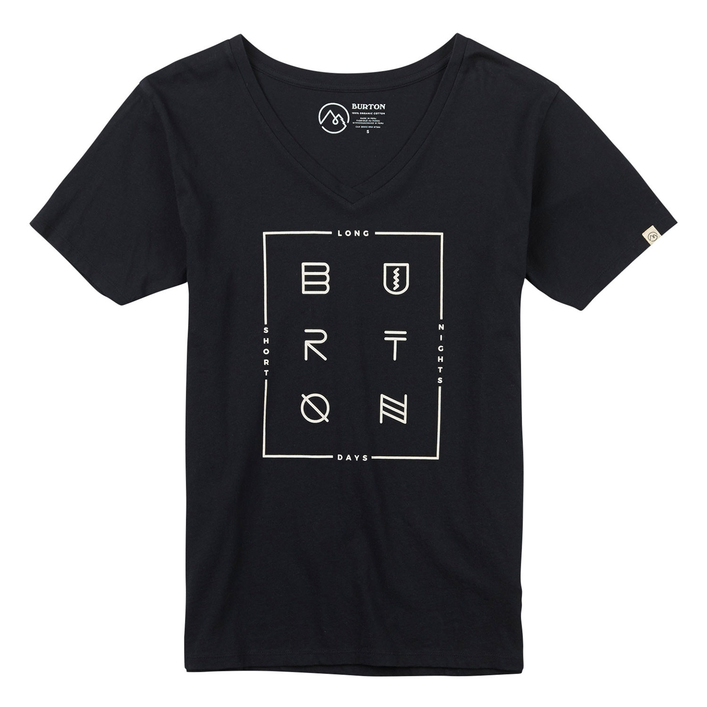 Tričko Burton Wms Never Sleep V-Neck Ss true black