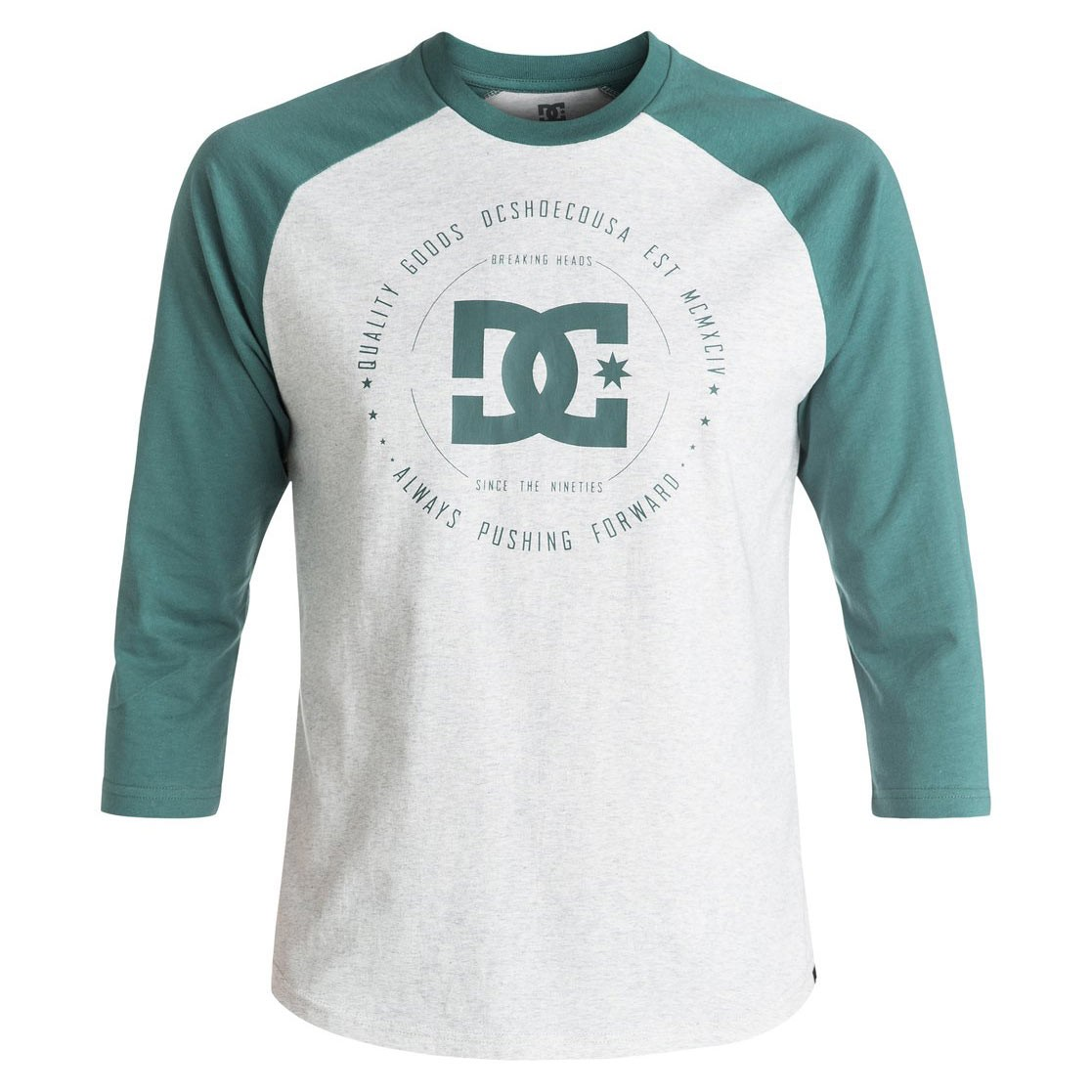 Tričko DC Rebuilt 2 3/4 Raglan light grey heather/sea pine vel.XL 17 + doručení do 24 hodin