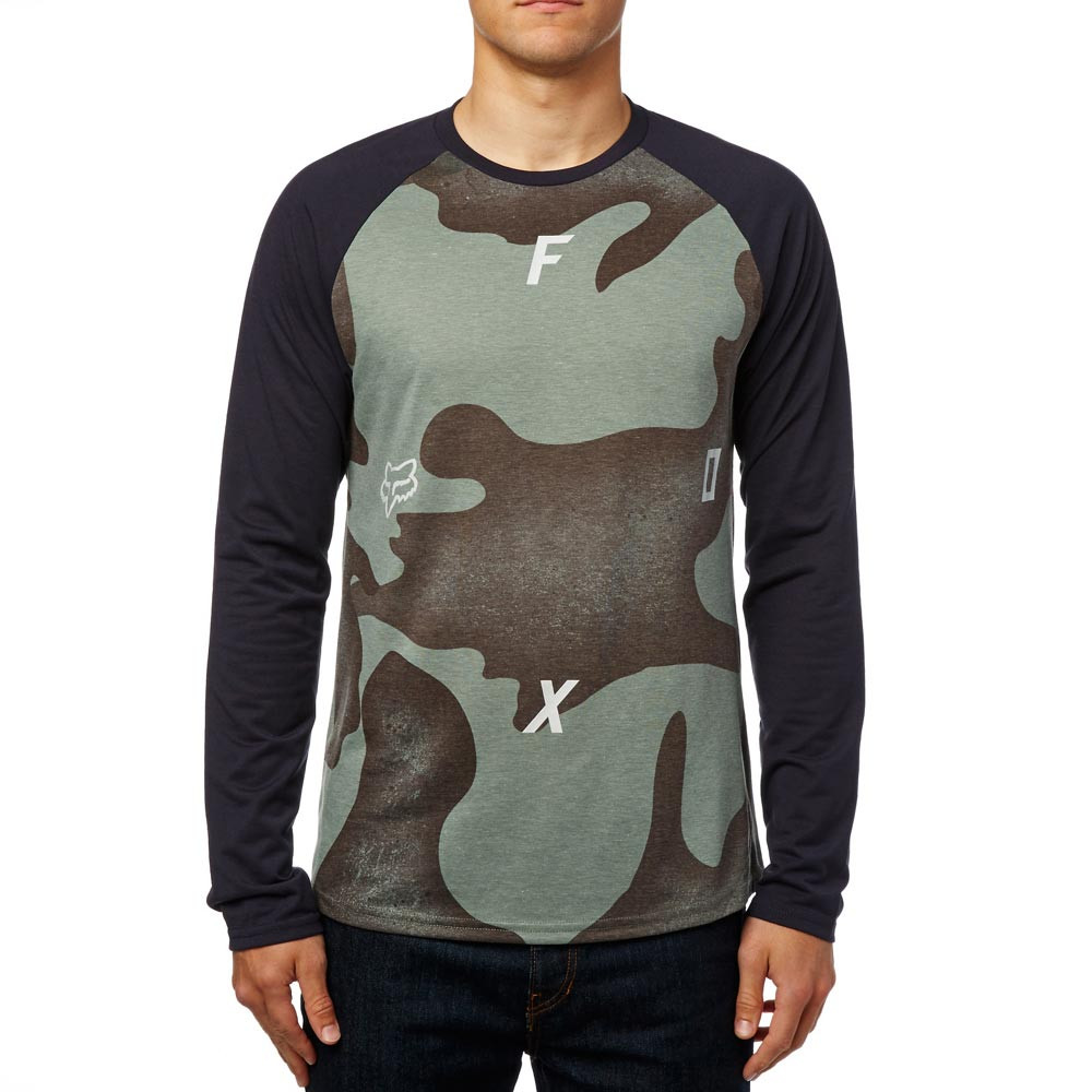 Tričko Fox Conjoin Ls Tech Raglan heather dark fatigue