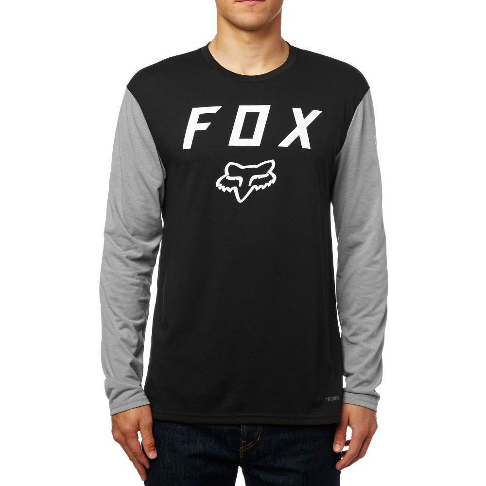 Tričko Fox Contended Ls Tech Tee black