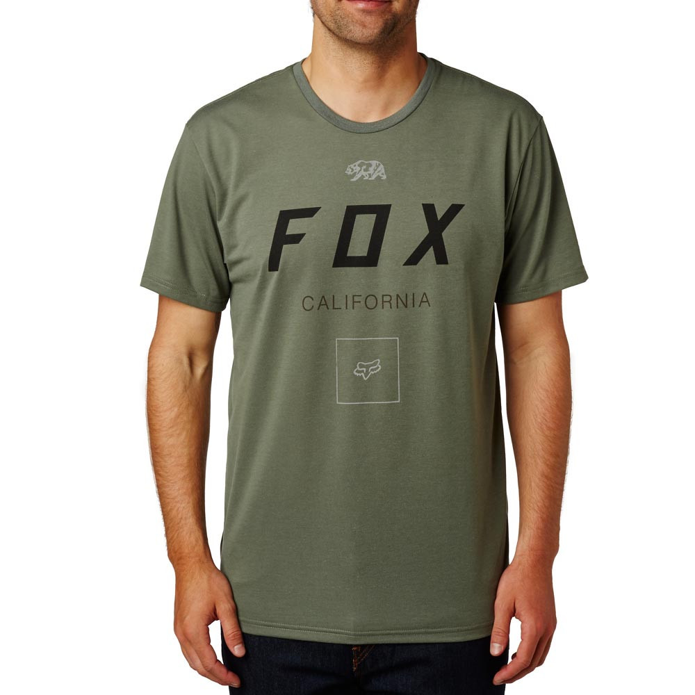 Tričko Fox Growled Tech Tee dark fatigue
