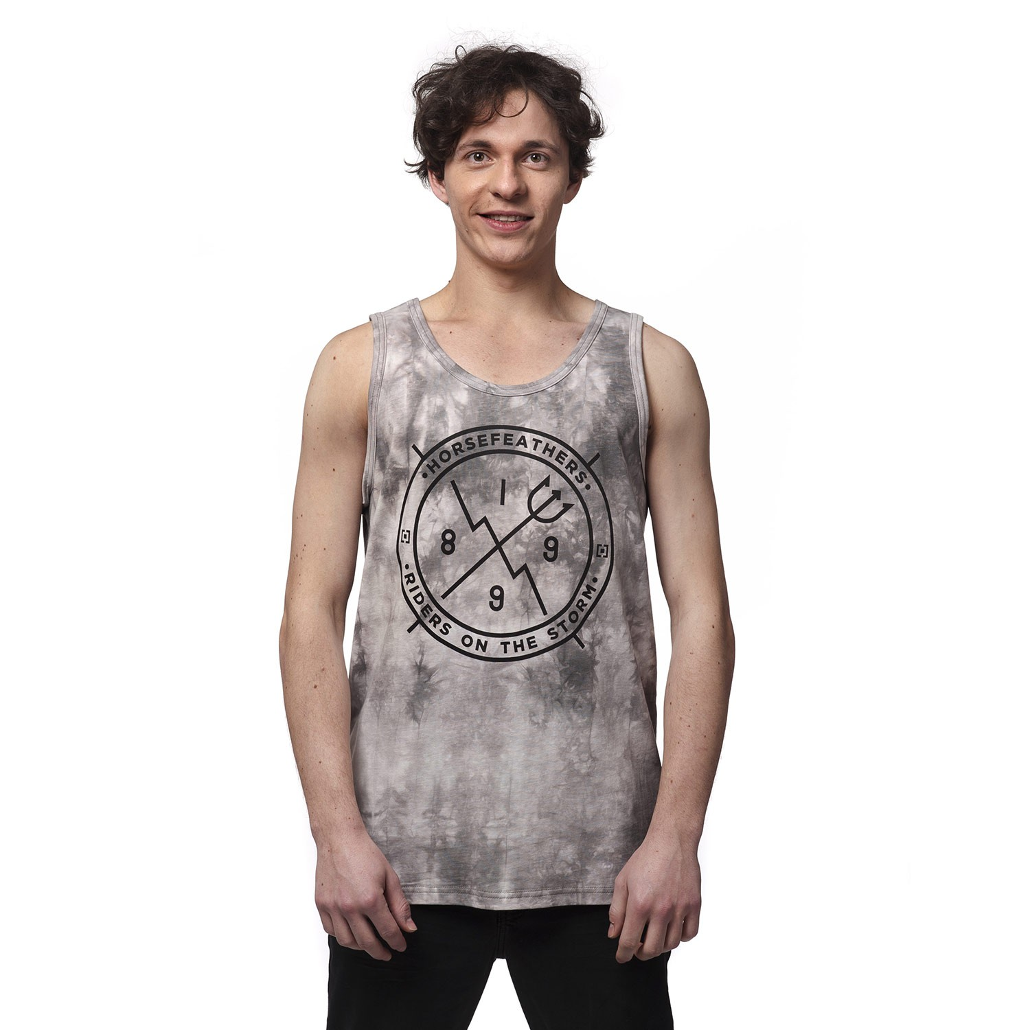 Tričko Horsefeathers Epic Tank Top grey batik