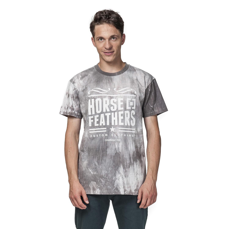 Tričko Horsefeathers Slope grey batik