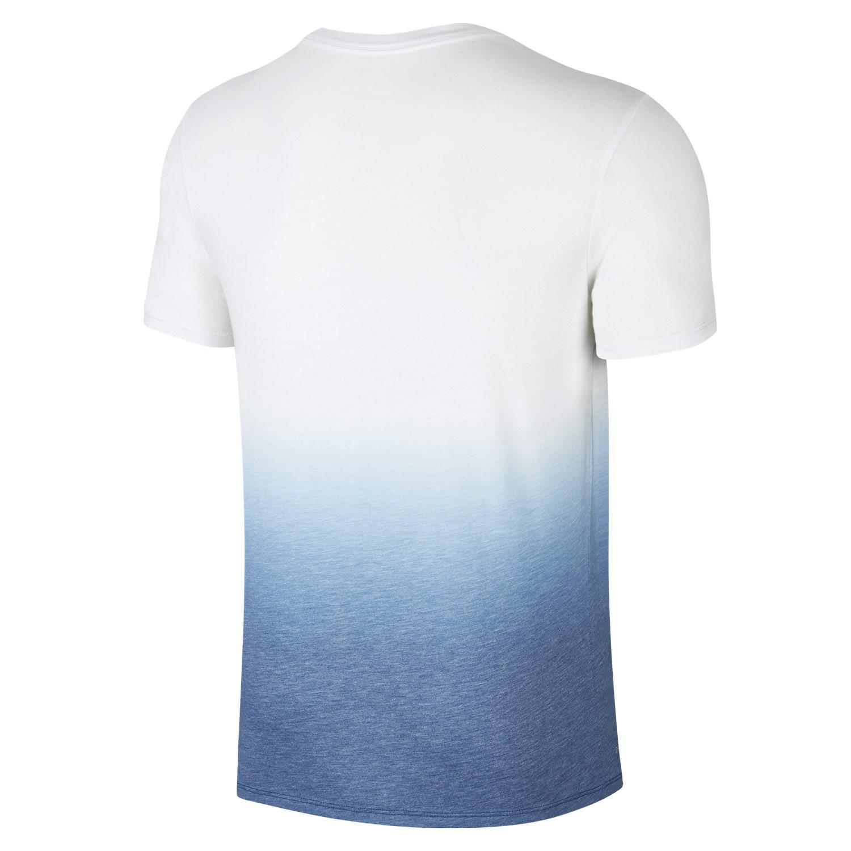T shirt nike sb dry dip dye white industrial blue for Cheap nike sb shirts