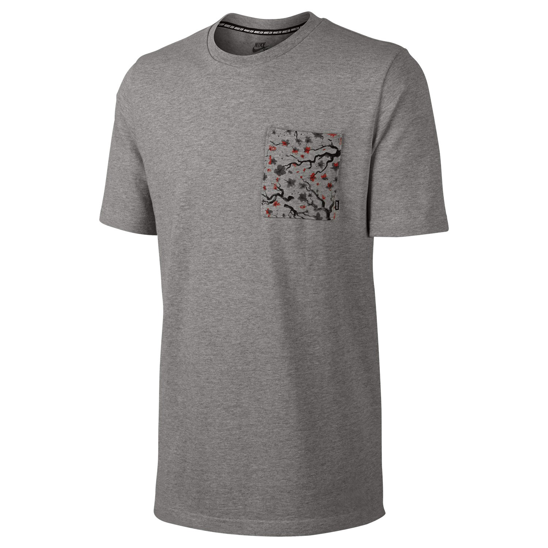 Tričko Nike SB Heavyweight Cherry Blossom Poc. dk grey heather