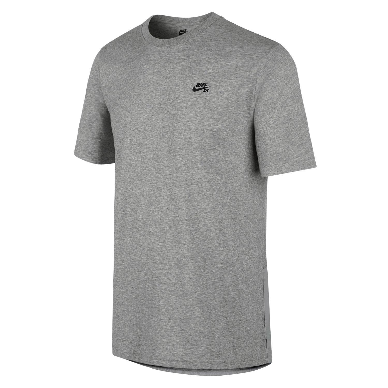 Tričko Nike SB Knit Overlay dk grey heather/black