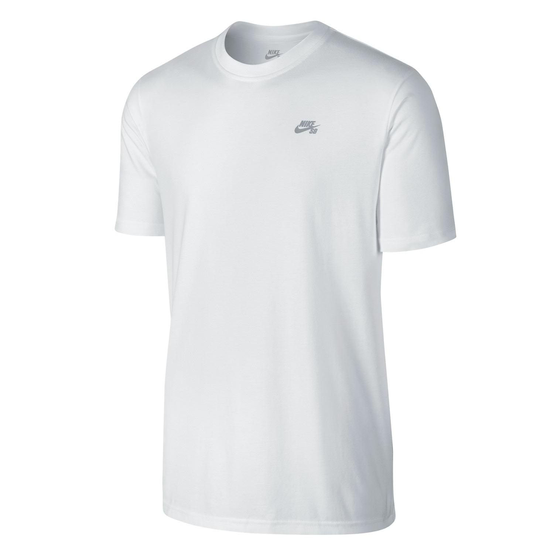 Tričko Nike SB Knit Overlay white/wolf grey
