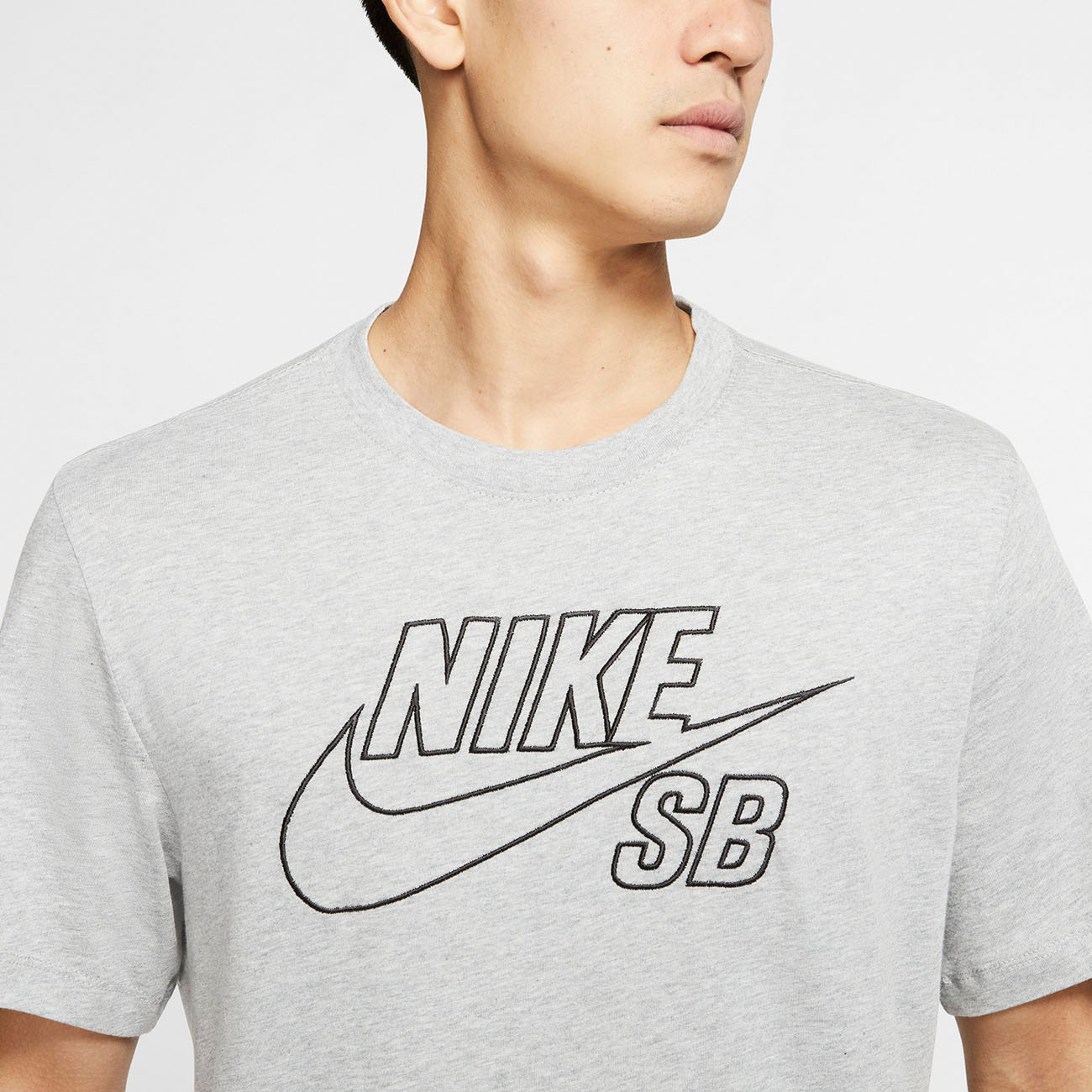 Nike SB Logo EMB T Shirt (dark grey heather)