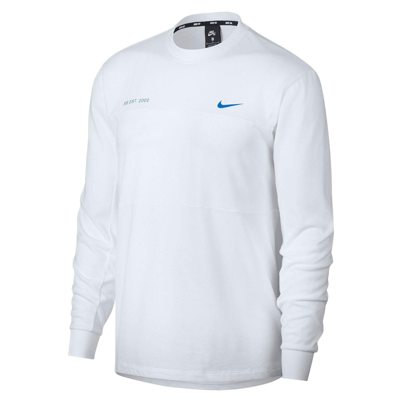d4ccc676784b Tričko Nike SB Mesh Ls white photo blue