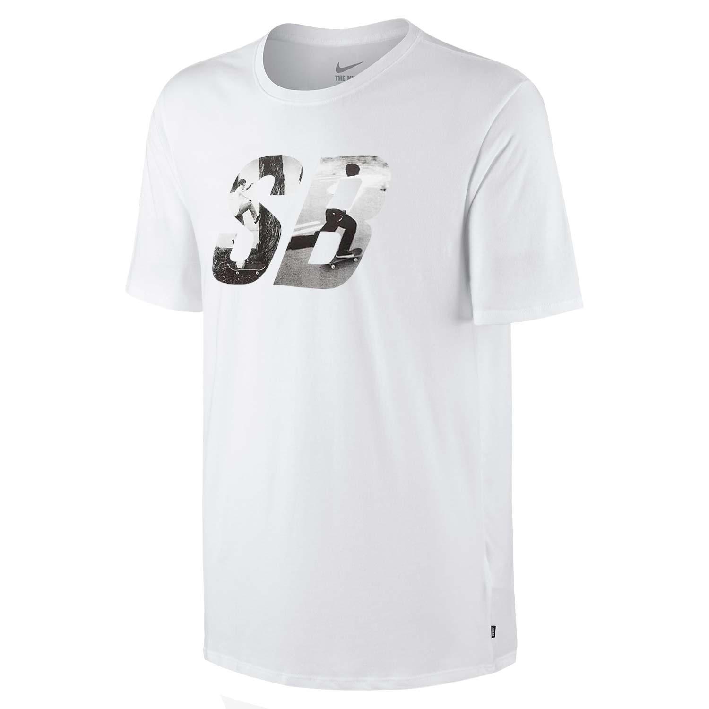 Tričko Nike SB Photo Fill white/white