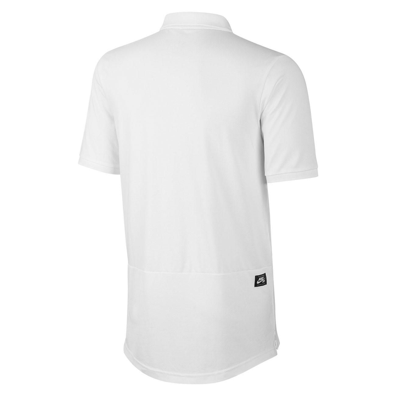 74d8e9be6a94f8 T-shirt Nike SB Pique Polo white hyper royal