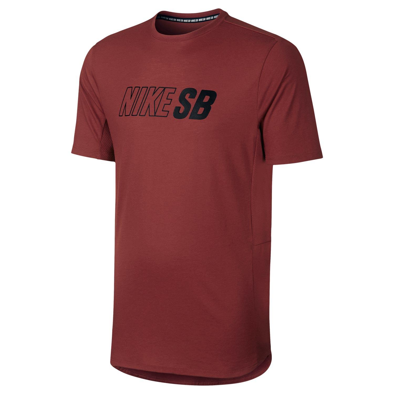 Tričko Nike SB Skyline Cool Top dark cayenne/black