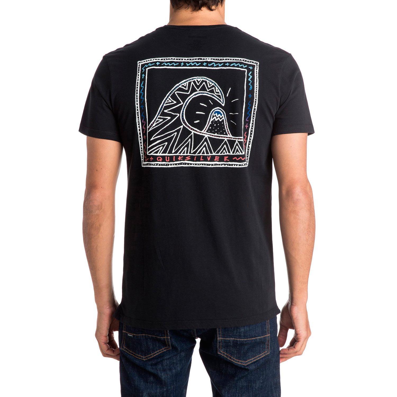 Tričko Quiksilver Garm Dye Logo Mtn Wave black