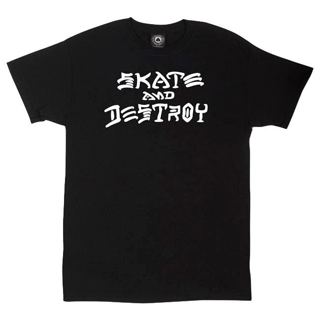 Tričko Thrasher Skate And Destroy black