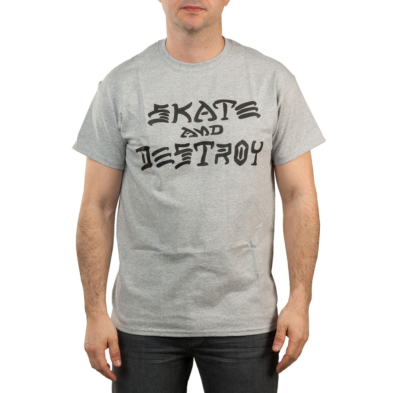 Tričko Thrasher Skate And Destroy grey