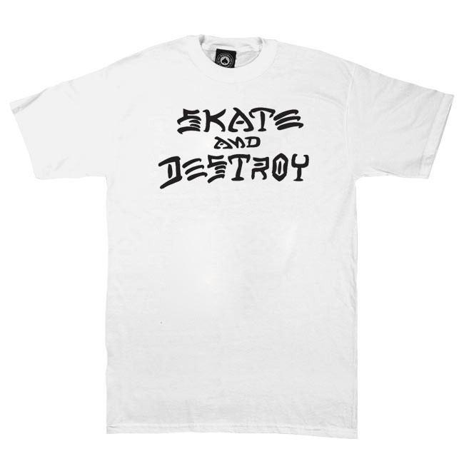 Tričko Thrasher Skate And Destroy white