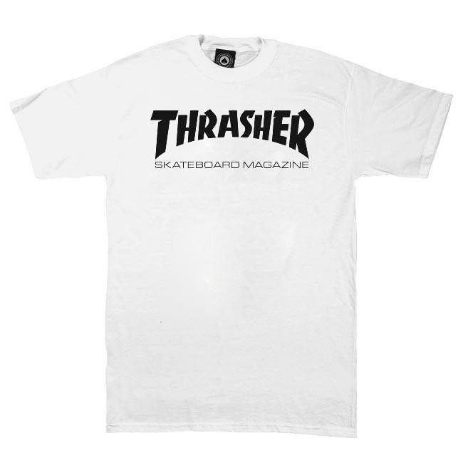 Tričko Thrasher Skate Mag white
