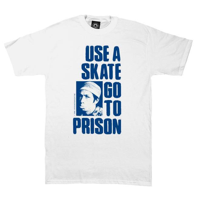 Tričko Thrasher Use A Skate Go To Prison blue/white