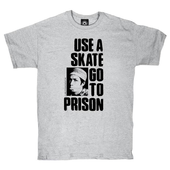 Tričko Thrasher Use A Skate Go To Prison grey