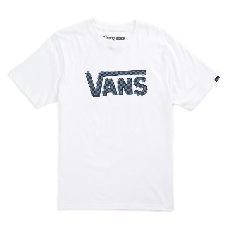 Tričko Vans Checker Classic Boys white/dress blues/north atlantic vel.S 16 + doručení do 24 hodin