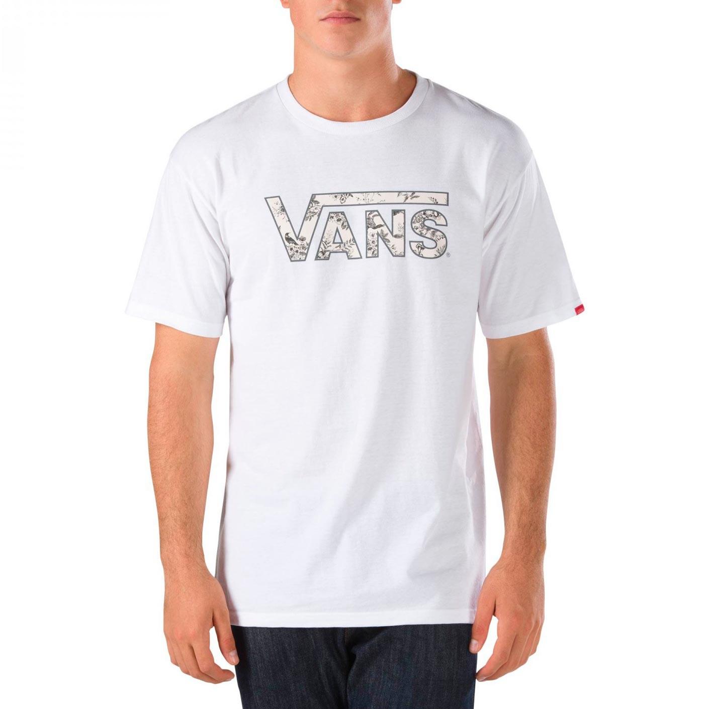 Tričko Vans Classic Logo white/datura toile vel.L 16 + doručení do 24 hodin