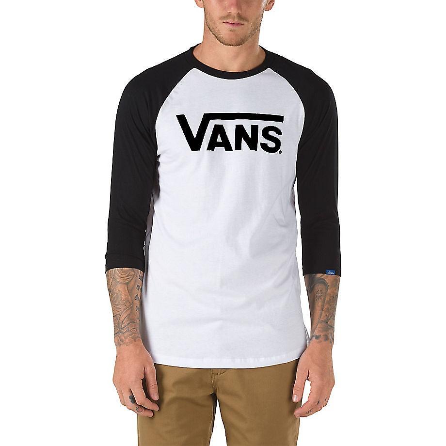 Tričko Vans Classic Raglan white/black vel.L 17 + doručení do 24 hodin