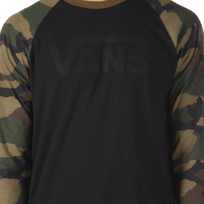 c8ca157297b06c T-shirt Vans Vans Classic Raglan black camo