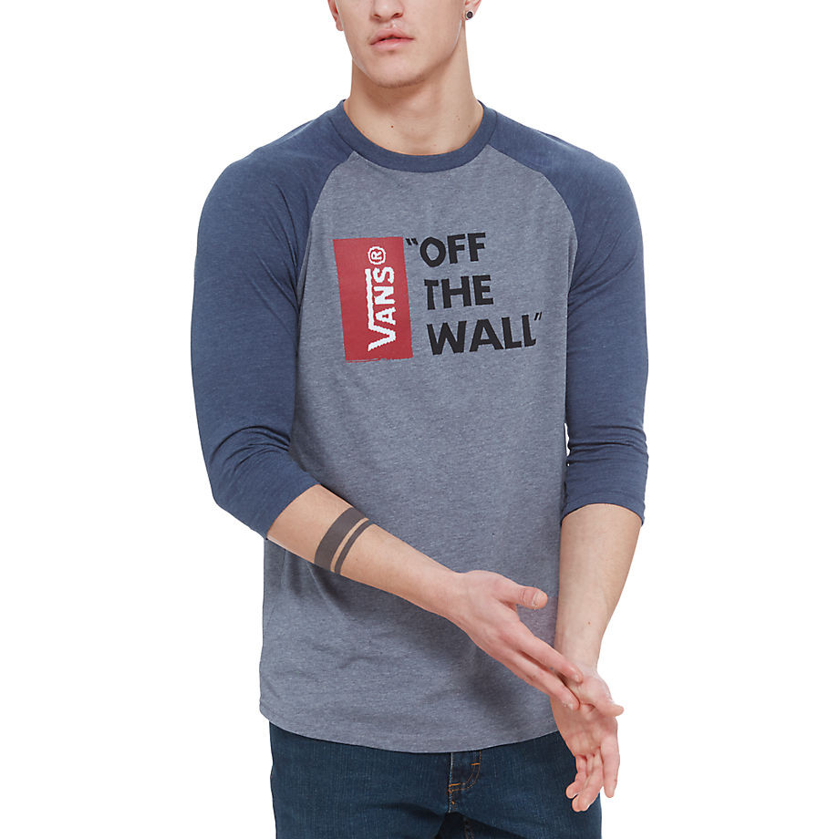 Tričko Vans Vans Off The Wall Raglan heather grey/heather ...