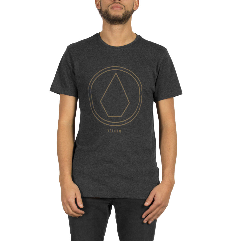Tričko Volcom Pinline Stone heather black