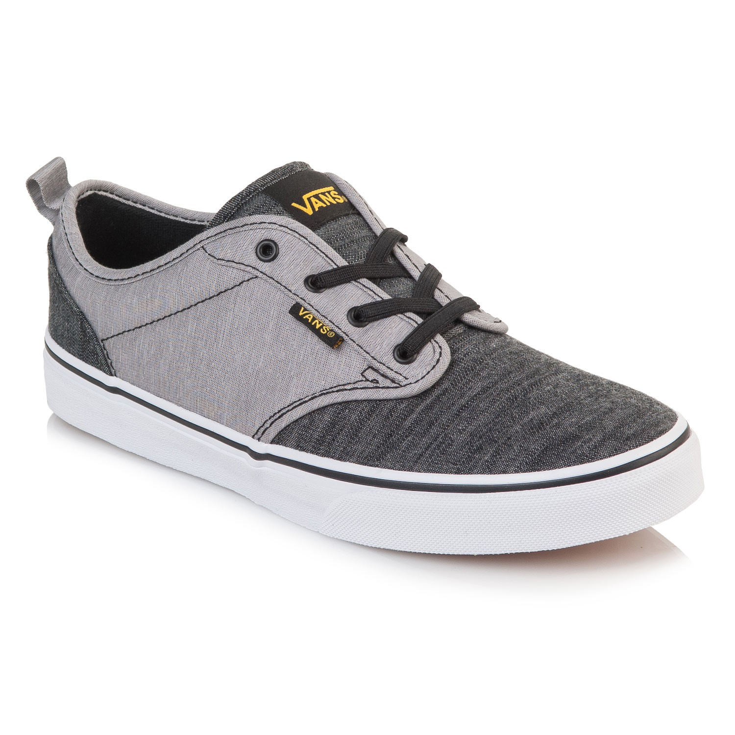 vans black and grey