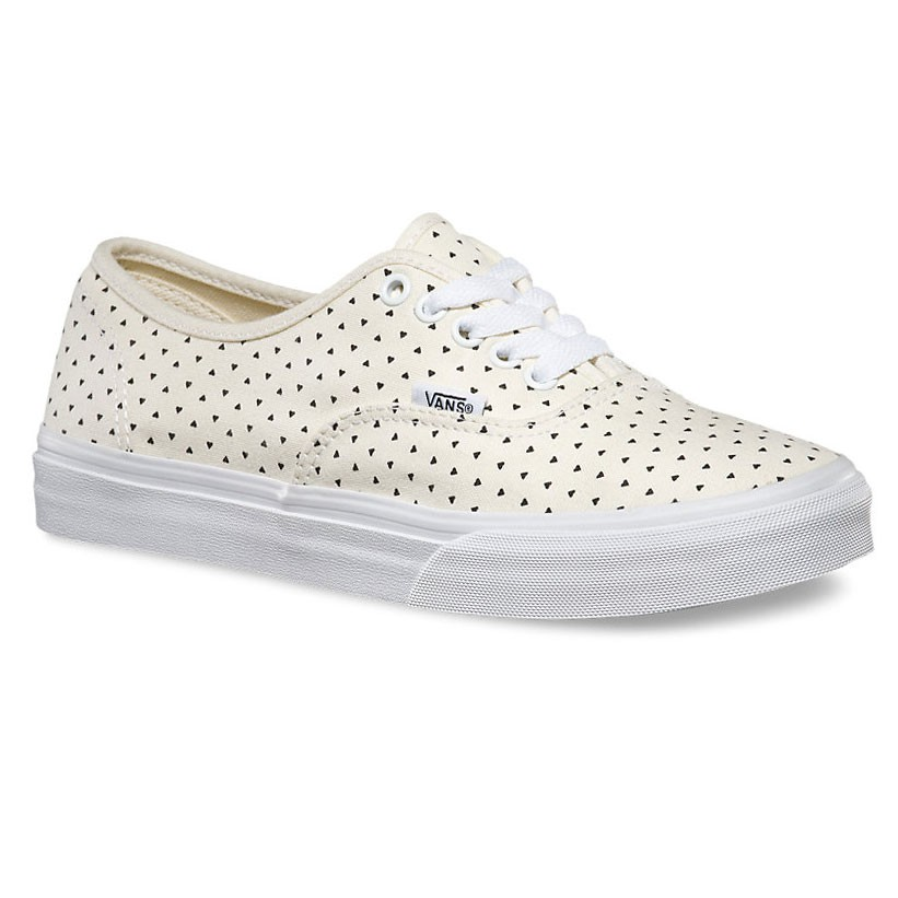 Tenisky Vans Authentic Slim micro hearts classic white/black