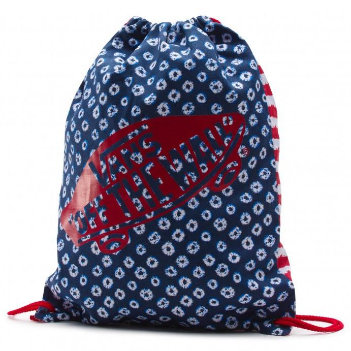 Pytlík na boty Vans Benched Novelty dyed dots & stripes blue/red