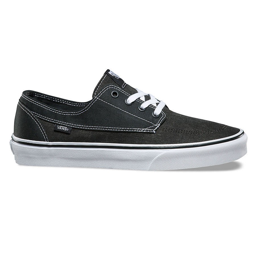 e547f1ee46db Sneakers Vans Brigata washed canvas pirate black white