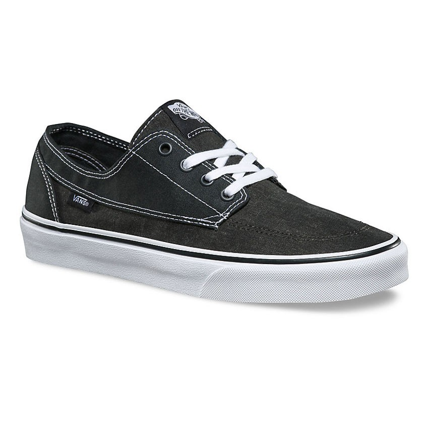 Tenisky Vans Brigata washed canvas pirate black/white