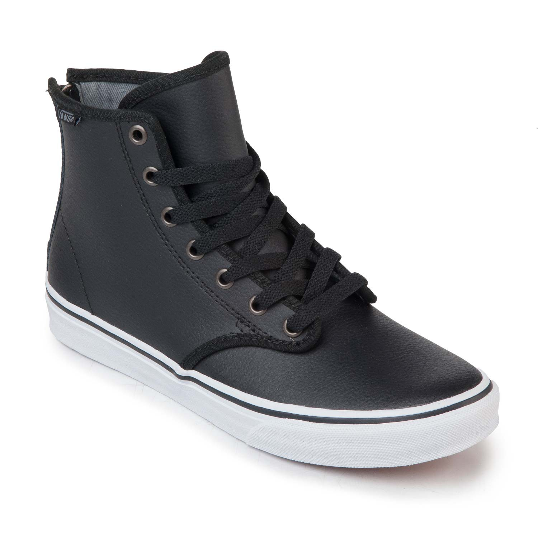 leather black vans