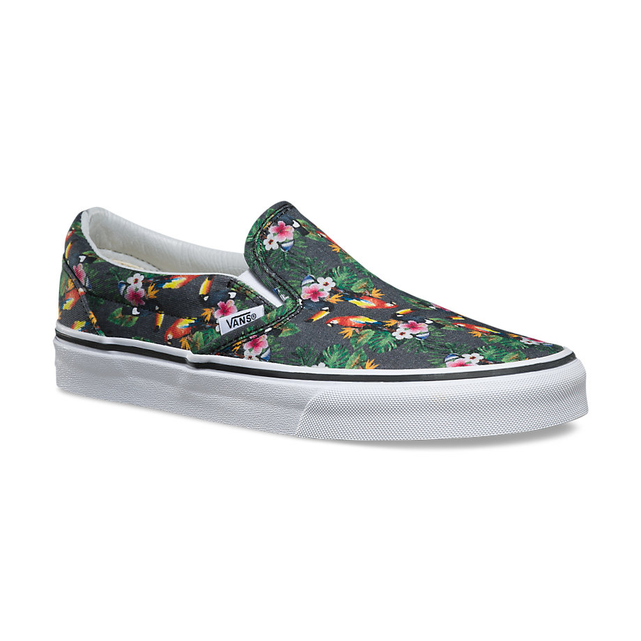 vans classic slip on chambray parrot true white. Black Bedroom Furniture Sets. Home Design Ideas