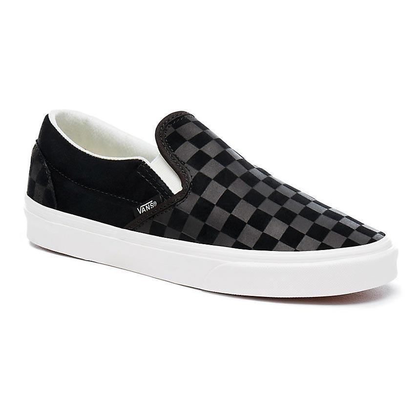 Tenisky vans classic slip on checker emboss black for Vans slip on carreaux