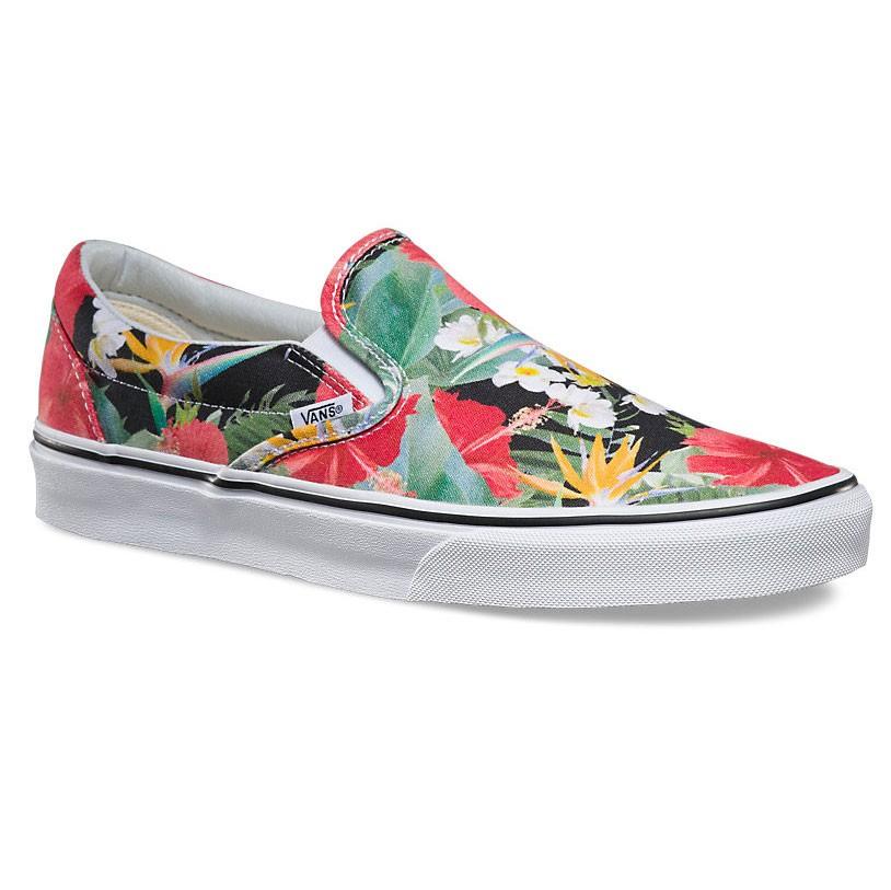 Tenisky Vans Classic Slip-On digi aloha black/true white