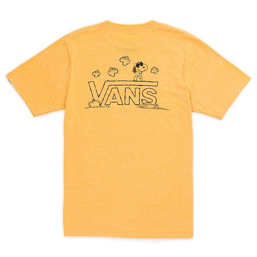 Tričko Vans Classic Snoopy Boys gold heather  f60d9a6fb4