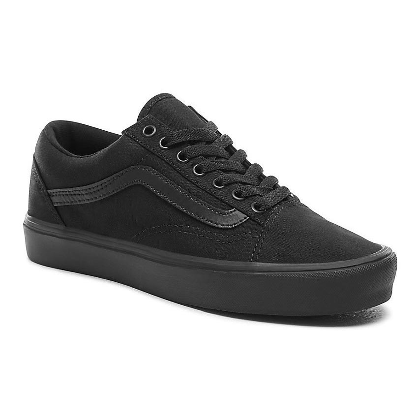 sneakers vans old skool lite canvas black black. Black Bedroom Furniture Sets. Home Design Ideas
