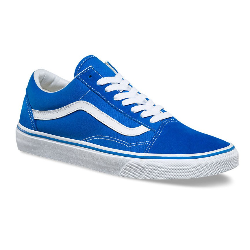 sneakers vans old skool suede canvas imperial blue white. Black Bedroom Furniture Sets. Home Design Ideas
